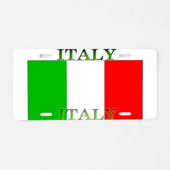 Italy Italian Flag Aluminum License Plate