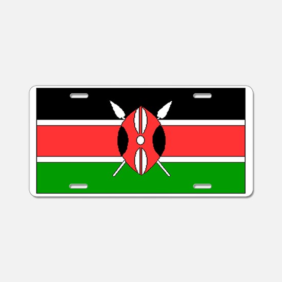 Kenya Kenyan Blank Flag Aluminum License Plate