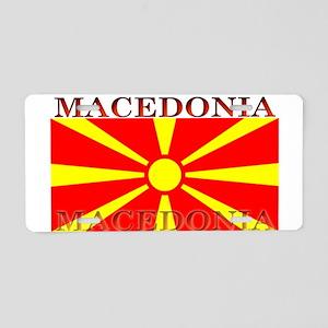 Macedonia Macedonian Flag Aluminum License Plate