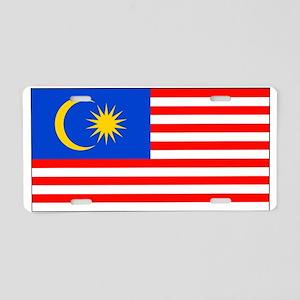 Malaysia Blank Flag Aluminum License Plate