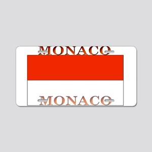 Monaco Monegasque Flag Aluminum License Plate