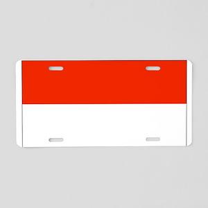 Monaco Monacan Flag Aluminum License Plate