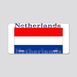 Netherlands Dutch Flag Aluminum License Plate