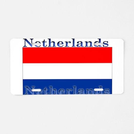 Netherlands Dutch Flag Aluminum License Plate