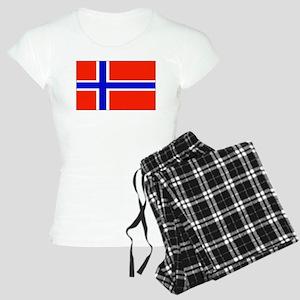 Norway Norwegian Blank Flag Women's Light Pajamas