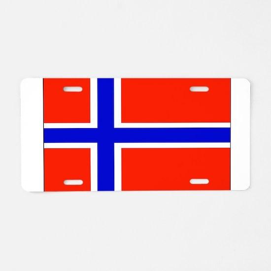 Norway Norwegian Blank Flag Aluminum License Plate