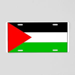 Palestinian Blank Flag Aluminum License Plate