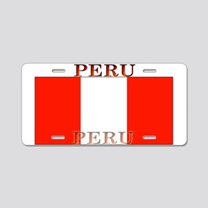 Peru Peruvian Flag Aluminum License Plate