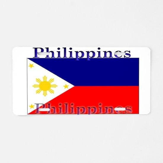 Philippines Filipino Flag Aluminum License Plate