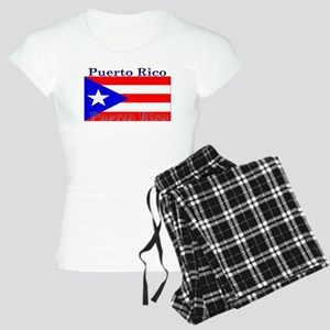 Puerto Rico Rican Flag Women's Light Pajamas