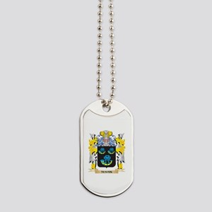 Tustin Family Crest - Coat of Arms Dog Tags