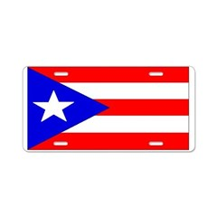 Puerto Rico Blank Flag Aluminum License Plate