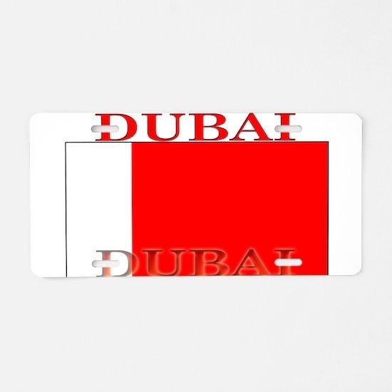 Dubai Flag Aluminum License Plate