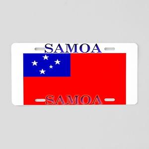 Samoa Samoan Flag Aluminum License Plate