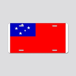 Samoa Samoan Blank Flag Aluminum License Plate