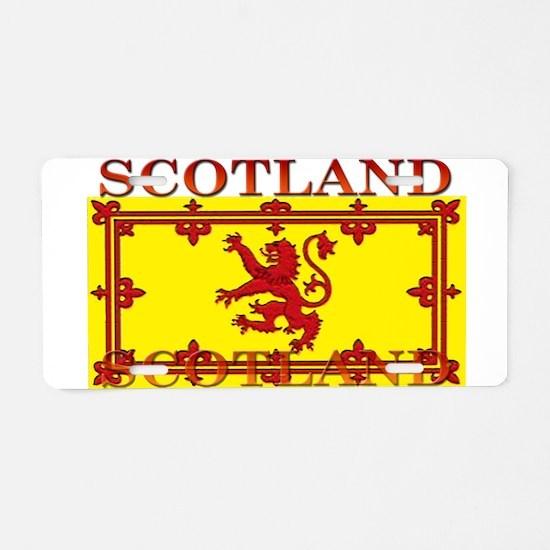 Scotland Scottish Flag Aluminum License Plate