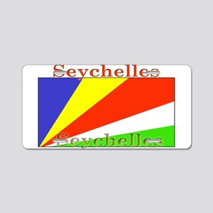 Seychelles Flag Aluminum License Plate