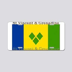 St Vincent & Grenadine Aluminum License Plate
