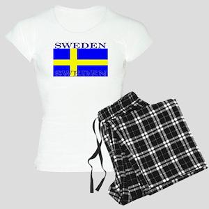 Sweden Swedish Flag Women's Light Pajamas
