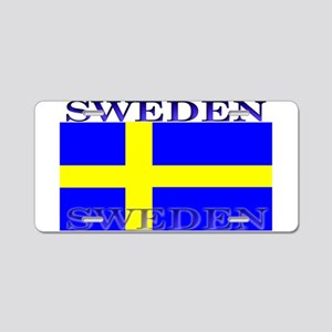Sweden Swedish Flag Aluminum License Plate