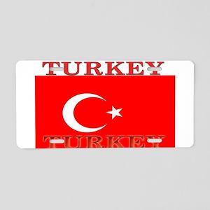 Turkey Turkish Flag Aluminum License Plate