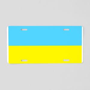 Blank Ukraine Ukrainian Flag Aluminum License Plat