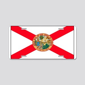 Florida Sunshine State Flag Aluminum License Plate