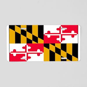 Maryland Blank Flag Aluminum License Plate