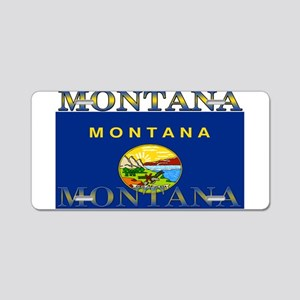 Montana State Flag Aluminum License Plate
