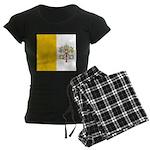 Vatican City Blank Flag Women's Dark Pajamas