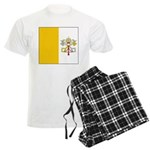 Vatican City Blank Flag Men's Light Pajamas