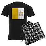 Vatican City Blank Flag Men's Dark Pajamas