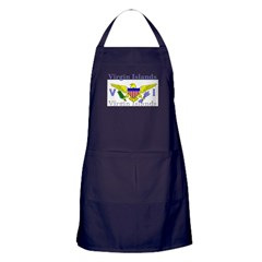 Virgin Islands Flag Apron (dark)