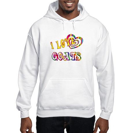 I Love Goats Hooded Sweatshirt