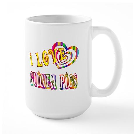 I Love Guinea Pigs Large Mug