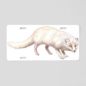 Arctic Fox Animal Lover Aluminum License Plate