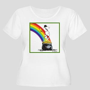 Pot O' Gold Women's Plus Size Scoop Neck T-Shirt