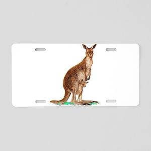 Western Gray Kangaroo Aluminum License Plate