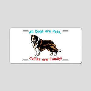Collie Collies Family Aluminum License Plate