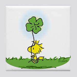 Woodstock Shamrock Tile Coaster