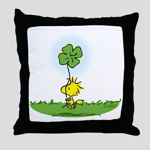 Woodstock Shamrock Throw Pillow