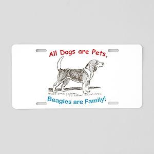 Beagle Beagles Dog Aluminum License Plate