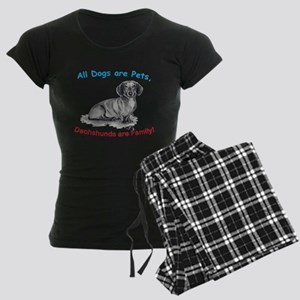 Dachshund Dachshunds Family Women's Dark Pajamas