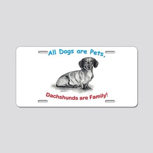 Dachshund Dachshunds Family Aluminum License Plate