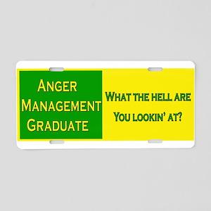 Anger Management Funny Aluminum License Plate