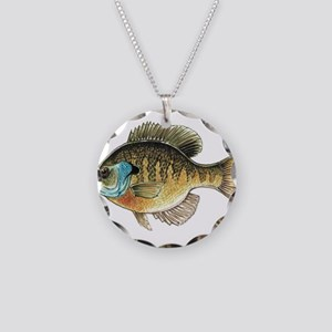 Bluegill Bream Fishing Necklace Circle Charm