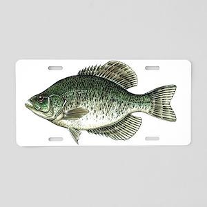 Black Crappie Fish Aluminum License Plate