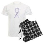 Violet paw ribbon Men's Light Pajamas