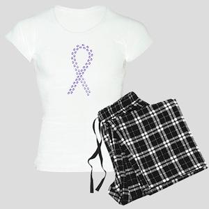 Violet paw ribbon Women's Light Pajamas