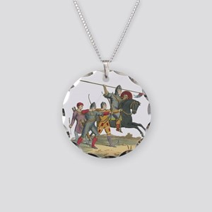 Norman Knight & Archers Necklace Circle Charm